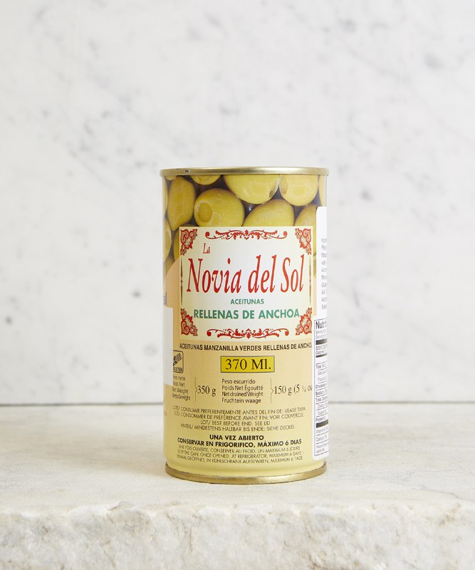 Novia del Sol Anchovy Stuffed Olives, 350g
