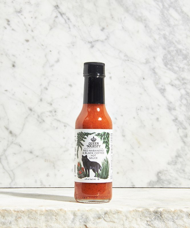 Queen Majesty Red Habanero & Black Coffee Hot Sauce, 5oz