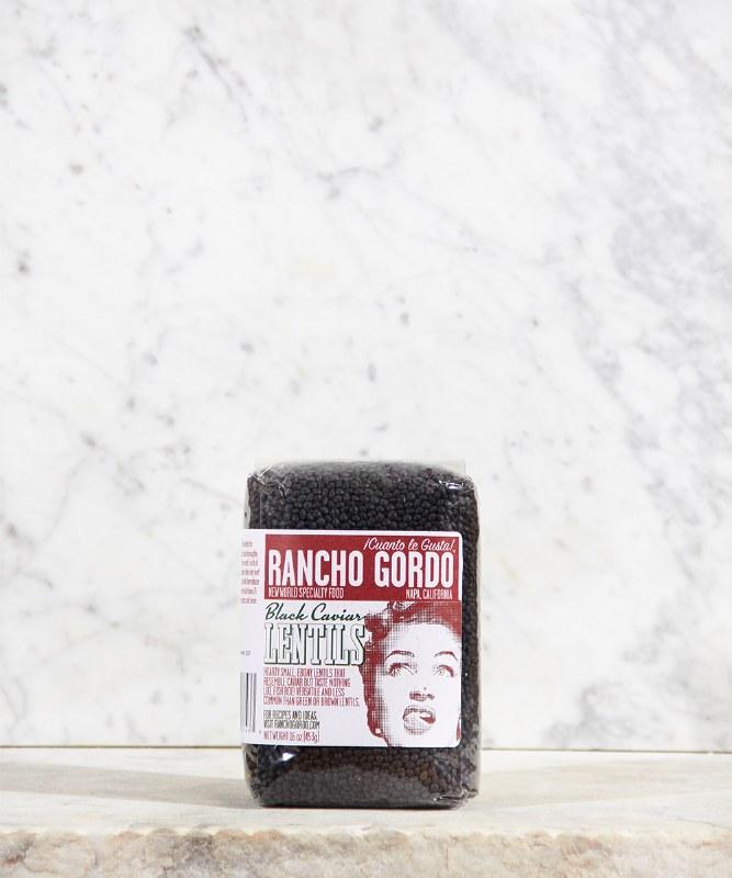 Rancho Gordo Black Lentils, 1lbs