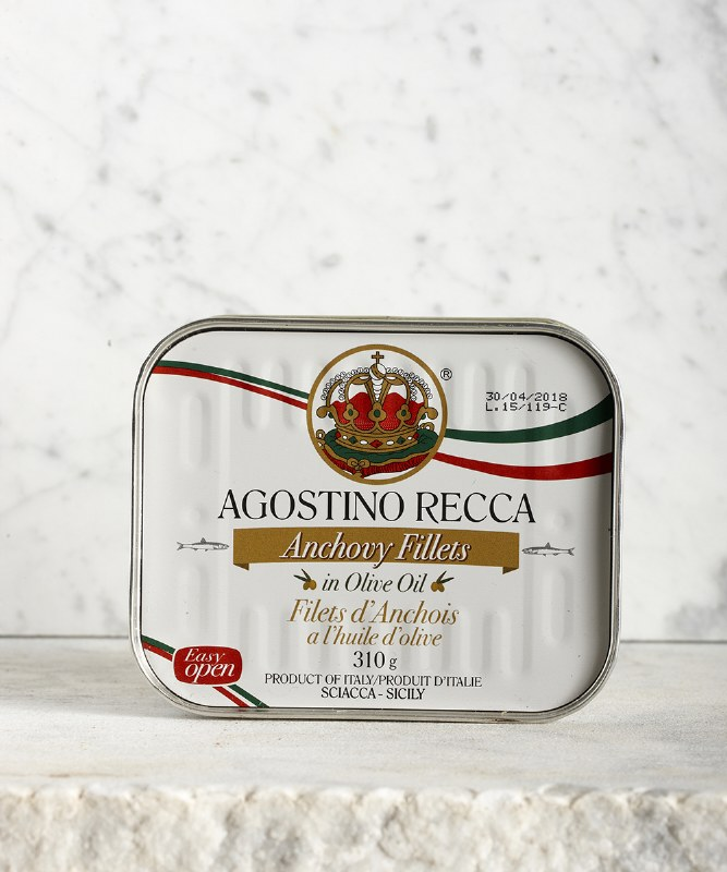 Agostino Recca Anchovies in Olive Oil, 310g