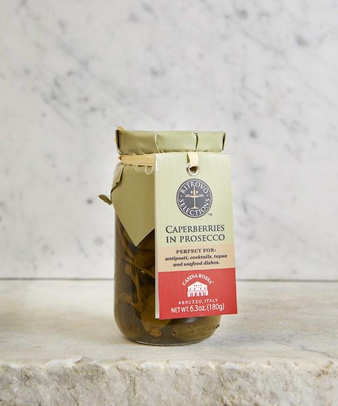 Ritrovo Selections Caperberries in Prosecco, 180g