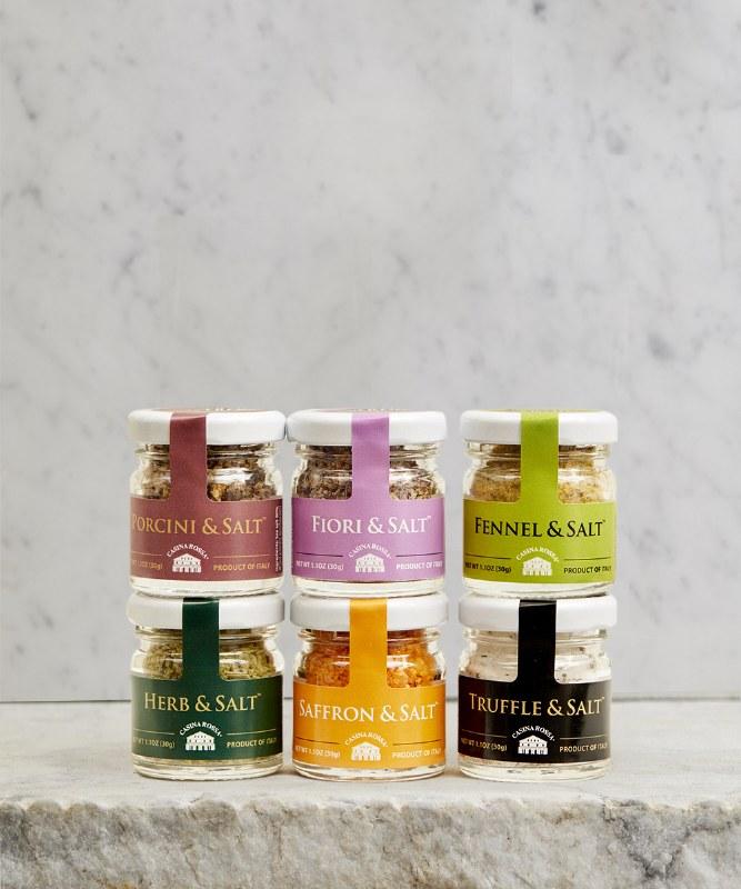Ritrovo Selections Mini Jar Salt Stack, 6pc - 30g