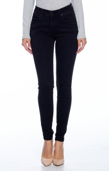 Black Mineral Wash Skinny Jeans With Butt Lift Design And Super Stretchy