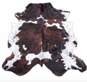 Dark Tricolor Cowhide Rug