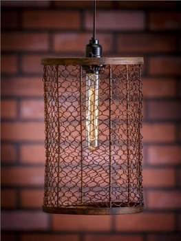 Pendant Lamp Mesh Cylinder