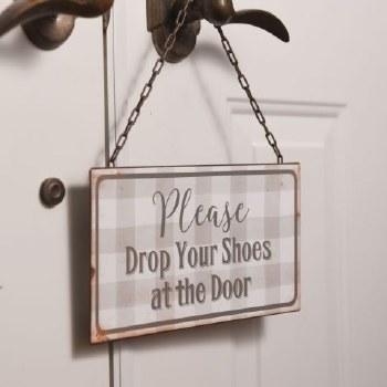 Please Drop Your Shoes Sign