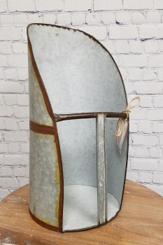 Large Galvanized Scoop