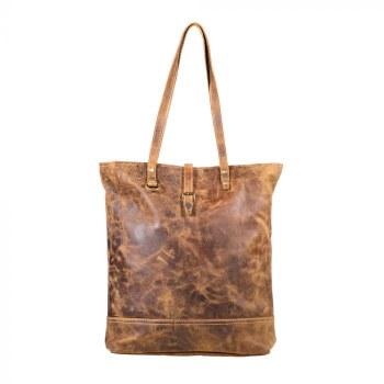 Fleece Leather Tote Bag