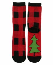 Buffalo Plaid Christmas Socks