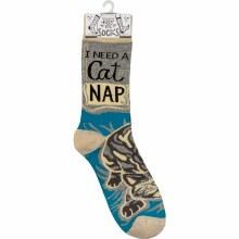 I Need A Cat Nap Socks