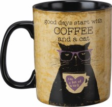 Good Days Start With Coffee And A Cat Mug