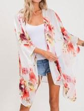 Floral Kimono Med Ivory