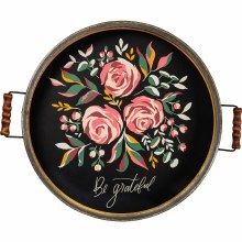 Be Grateful Floral Tray