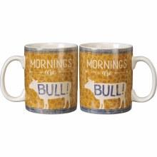Mornings Are Bull Coffee Mug