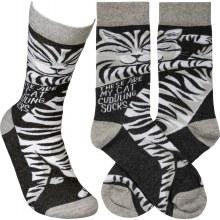 Cat Cuddling Socks