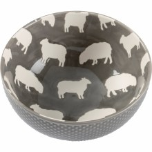 Grey & White Sheep Bowl