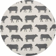 Grey & White Cow Dinner Plate