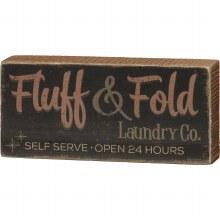 Fluff & Fold Self Serve Box Sign