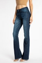 Dark Wash Flare High Rise Jeans