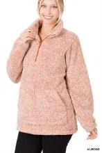 Almond sherpa pullover