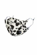 Black And White Leopard Mask With Filter Insert