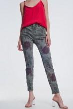 Floral Jeans Sm Olive