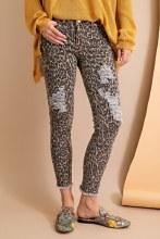 Leopard Jean  Sm Brown