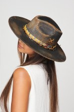 Black / Brown Distressed Premium quality ranch pananma style hat