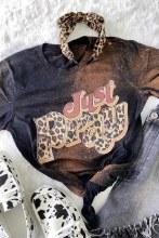 Short sleeve Bleached Tee Cheetah just pray