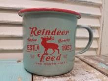 Enamel Reindeer Feed Mug