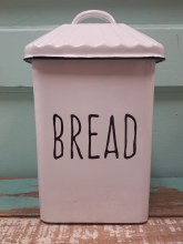 Enamel Bread Box Stand Up