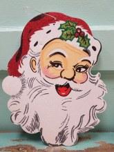 Large Glittler Santa Face Ornament