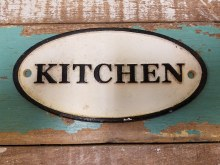 Cast Iron Kitchen Sign