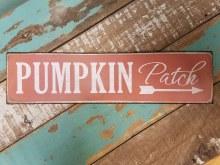 Pumpkin Patch Metal Sign