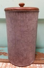 "9"" Galvanized Canister"