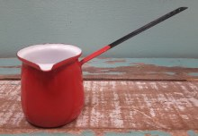 Vintage Red Enamel Dipper