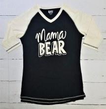 Mama Bear Raglan Med Black