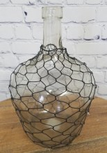 Farmhouse style small gooseneck chicken wire vase