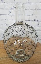 Farmhouse style gooseneck chicken wire vase