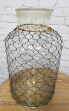 Farmhouse style chicken wire vase