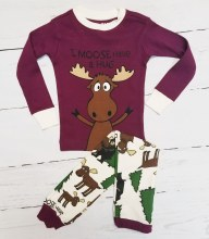 Long Sleeve Kids I moose have a hug Pj's