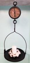 Vintage style hanging general store clock