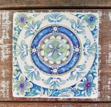 Medallion Tumbled Tile Coaster