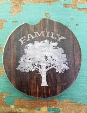 Family Tree Car Coaster