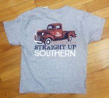 Short Sleeve Youth t shirt with vintage red truck