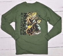 Long Sleeve T Shirt with Fish in Roots