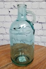 Blue Glass Handled Jug