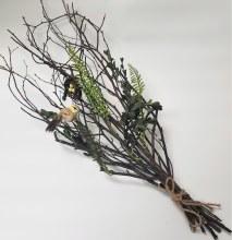 Assorted Foliage W/bird & Nest