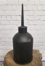 Large metal reproduction Black Oil Can