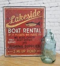 Lakeside Boat Rental Sign